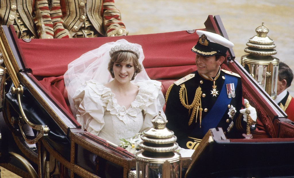 """The couple's big day wasn't without its share of drama. Prince Charles reportedly cried the night before the wedding because he felt pressured into his marriage and was torn abut his love for then-mistress Camilla Parker Bowles. Camilla, who was rumored to have been continuing her relationship with Charles during his engagement, was front and center at the wedding, causing a """"disturbing distraction"""" for Diana as she stood at the altar. Camilla's then-husband, Andrew Parker Bowles, actually escorted Charles and Diana's horse-drawn carriage back to Buckingham Palace."""