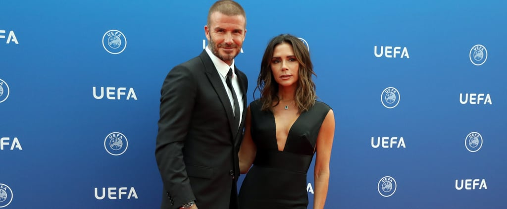 David and Victoria Beckham at UEFA Champions League Photos