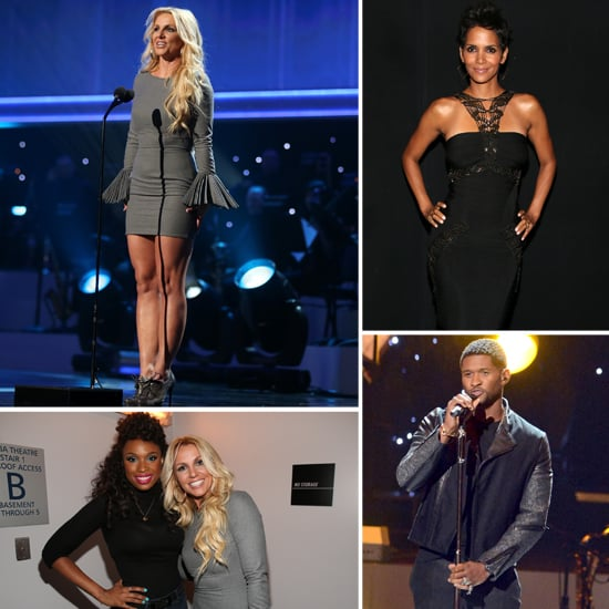 Britney Spears and Halle Berry at Whitney Houston Tribute