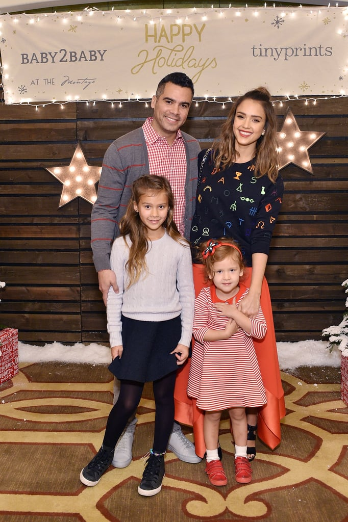 They posed at the Baby2Baby holiday party in Beverly Hills, CA, in December 2015.