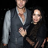 Jason Momoa and Lisa Bonet at the Conan the Barbarian Premiere in August 2011
