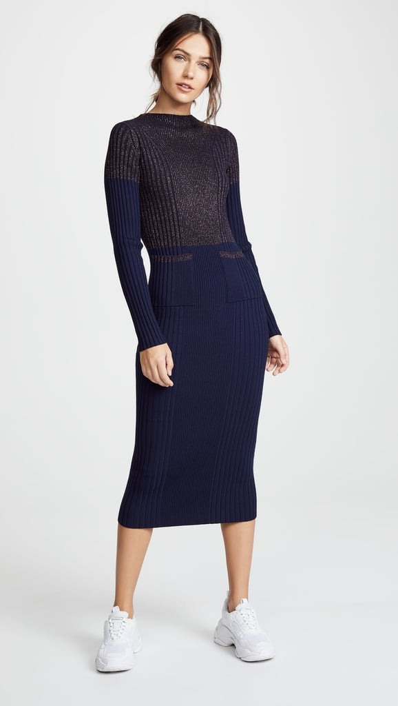 95579964510 Kenzo Fitted Midi Sweater Dress