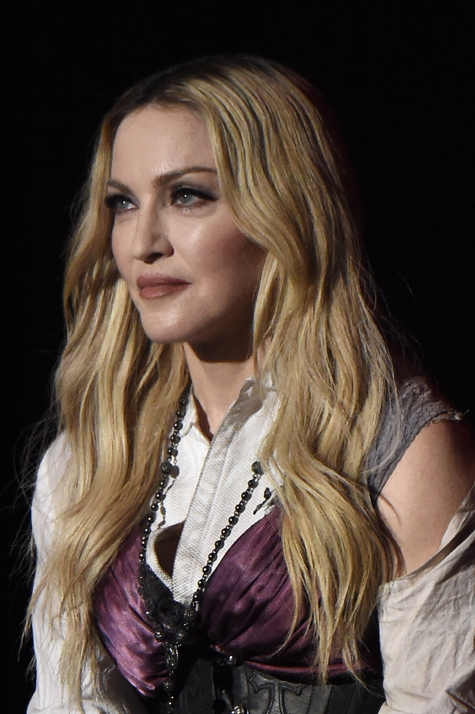 LOS ANGELES, CA - MARCH 29:  Singer Madonna performs onstage during the 2015 iHeartRadio Music Awards which broadcasted live on NBC from The Shrine Auditorium on March 29, 2015 in Los Angeles, California.  (Photo by Kevin Mazur/Getty Images for iHeartMedia)