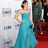 Rachel Leigh Cook donned an aqua gown.