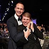 Pictured: Alexander Skarsgard and Jack McBrayer