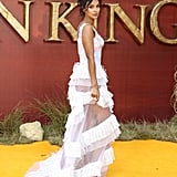 Pictured: Maya Jama at The Lion King premiere in London.
