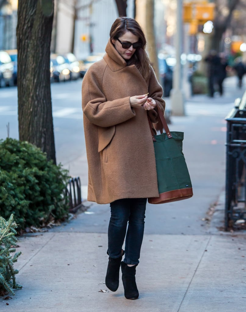 When She Bundled Up in What Might Actually Be the Biggest, Chicest Coat Ever