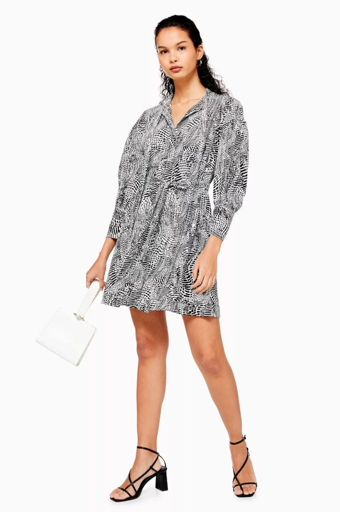 Topshop Pintuck Mini Dress