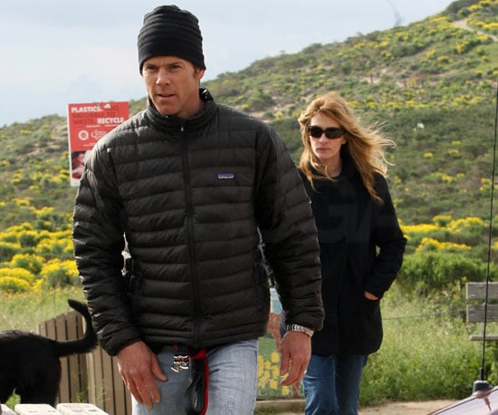 Slide Photo of Julia Roberts and Danny Moder Hiking in LA