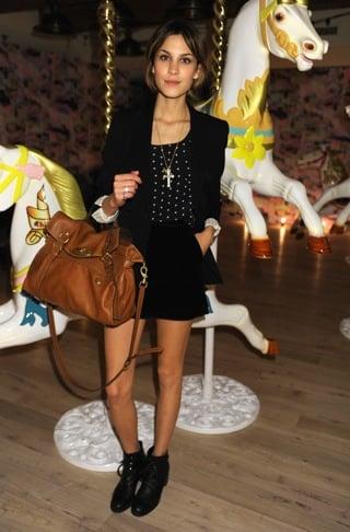 Alexa Chung Carrying Mulberry Alexa Bag
