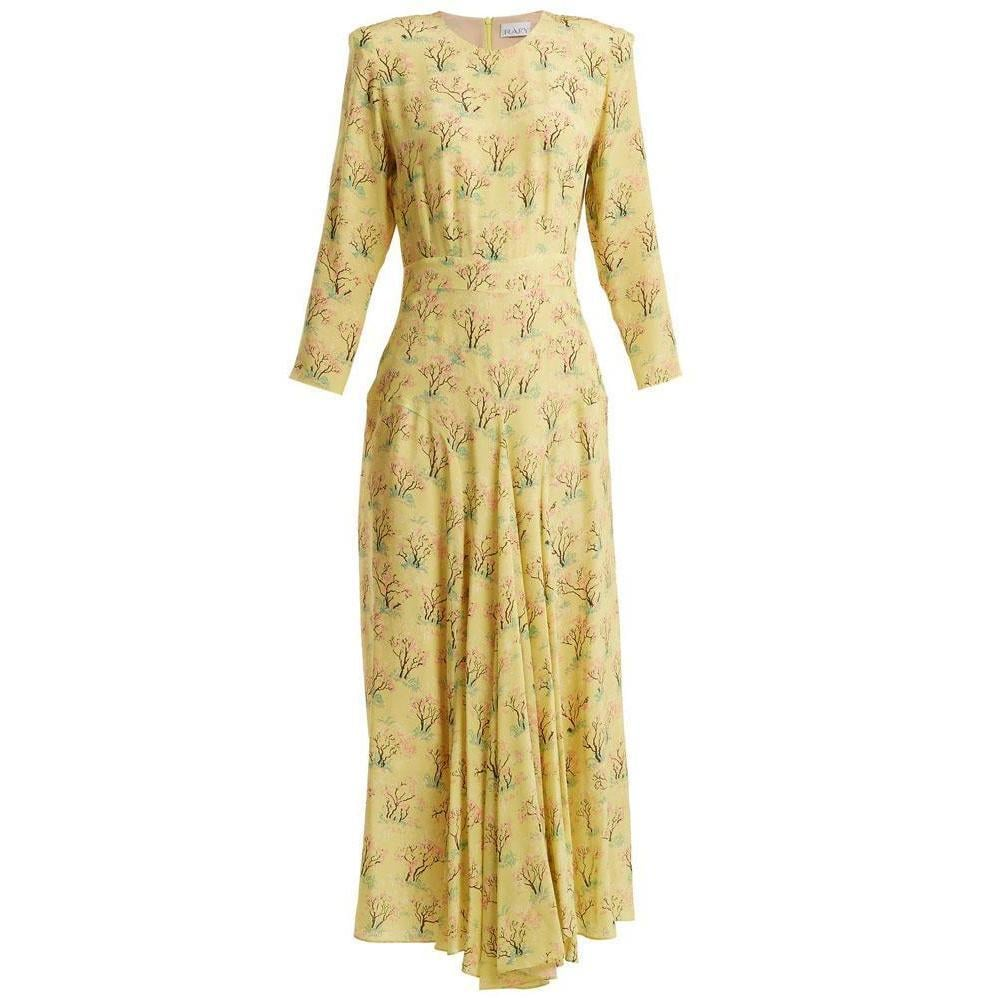 Raey Acid Tree-Print Silk Dress