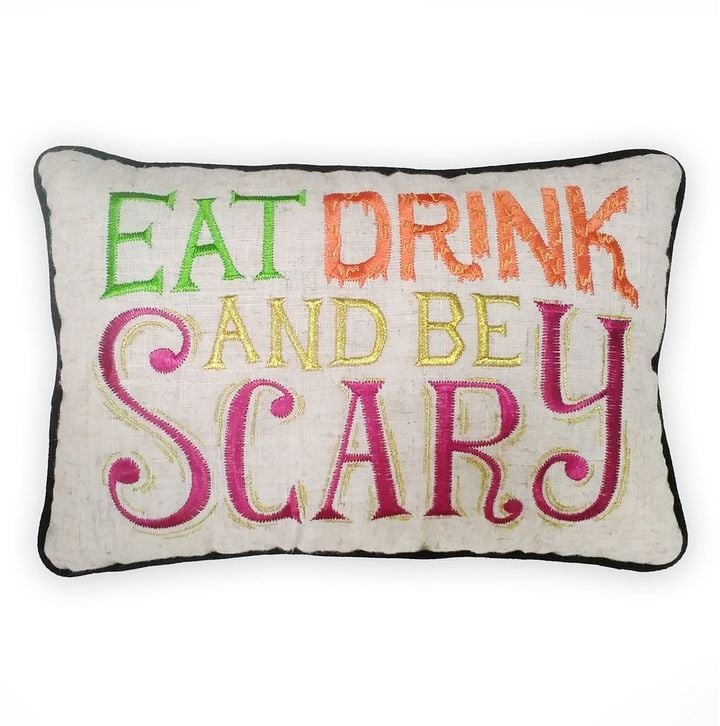 Celebrate Halloween Throw Pillow