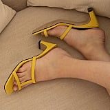 4. Strappy Sandals with Square-Toe and Toe Ring Details