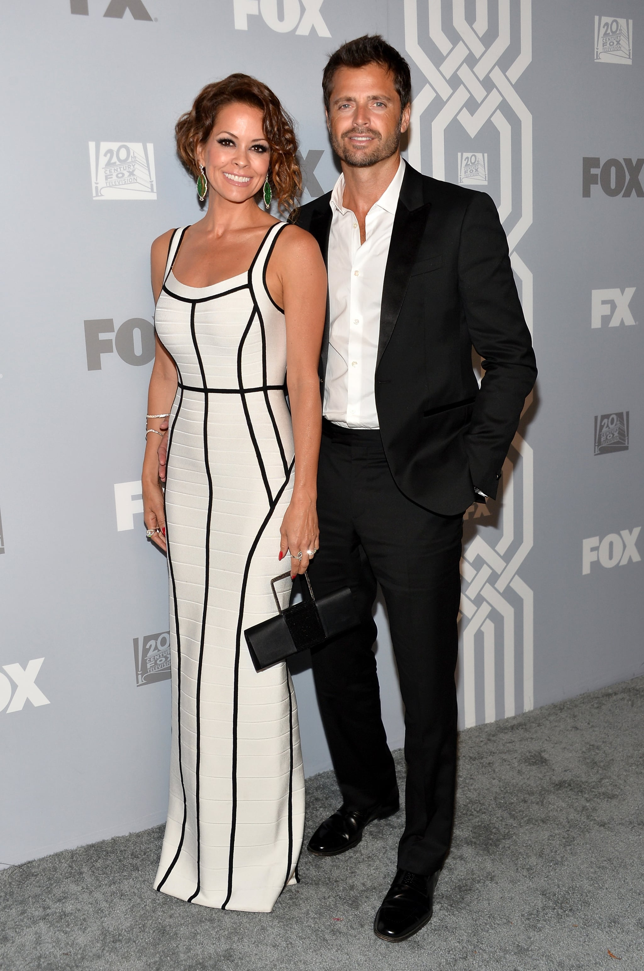 Brooke Burke-Charvet and her husband, David Charvet, paired up at the Fox party.