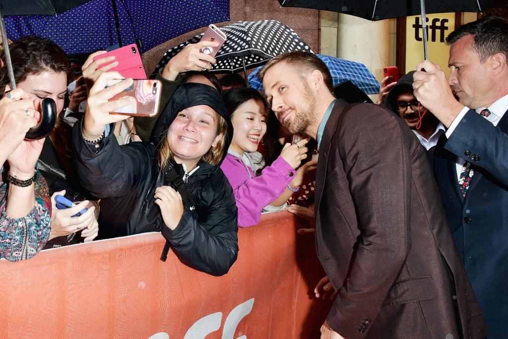 Ryan Gosling Promoting First Man Pictures