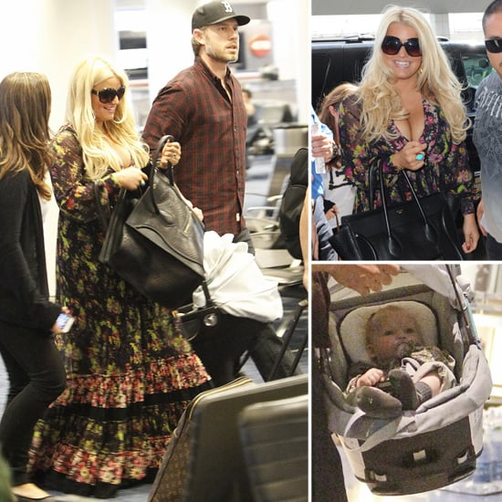 Jessica Simpson Travels With Maxwell Johnson | Pictures