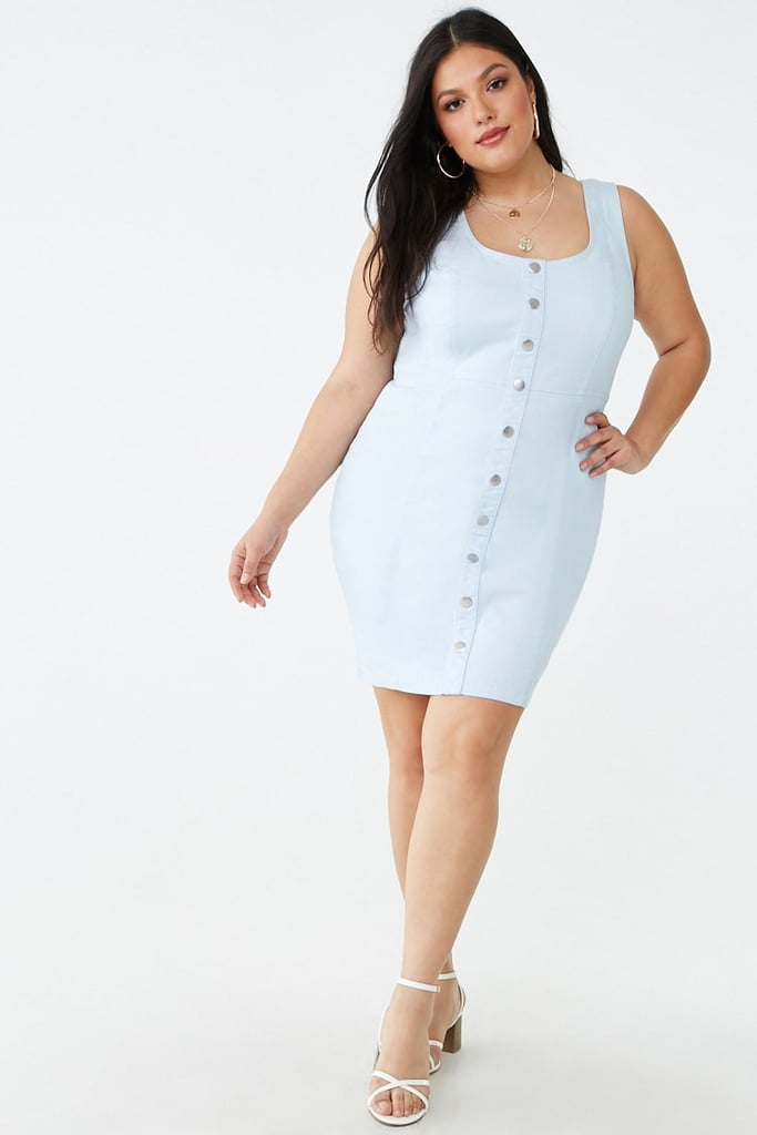 Plus-Size Denim Button-Front Dress   Best Summer Dresses ...