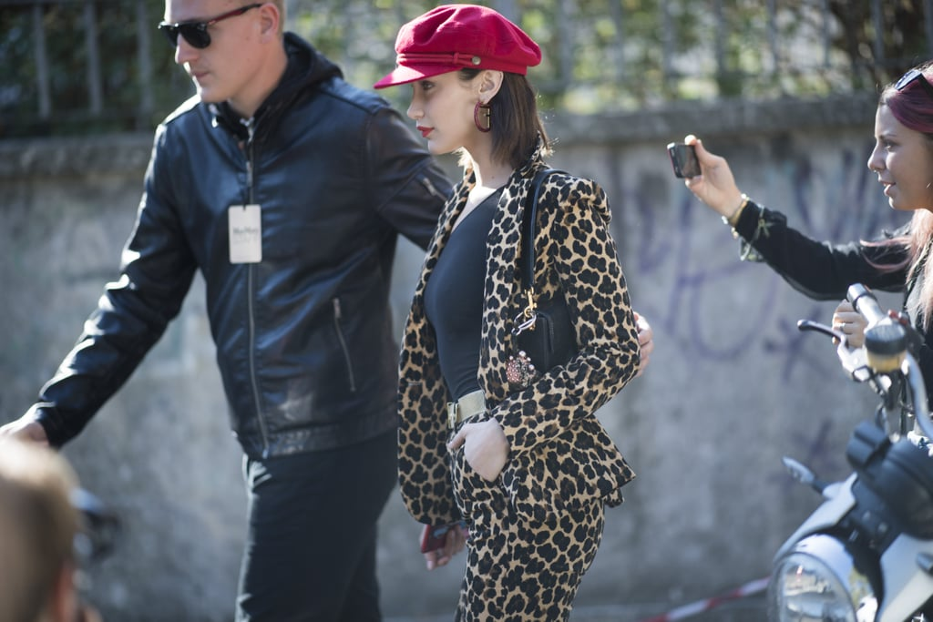 Bella Hadid Wore a Cheetah-Print Suit by Frame