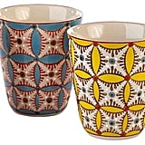 Pols Potten Color Hippy Set Of 4 Ceramic Cups