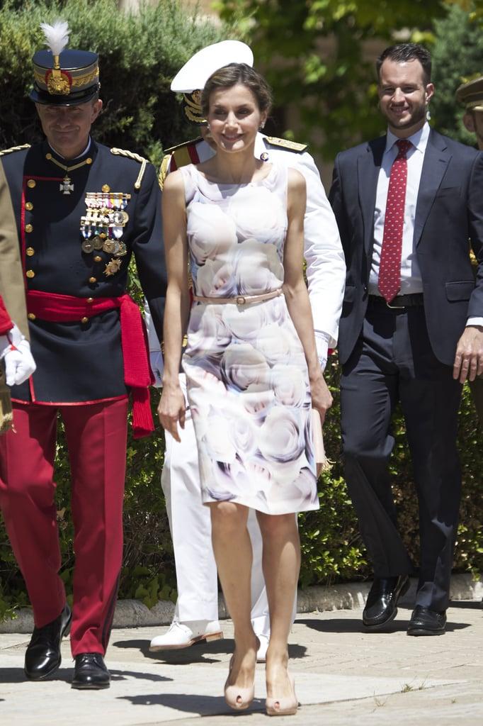 Queen Letizia's Hugo Boss Floral Dress July 2016