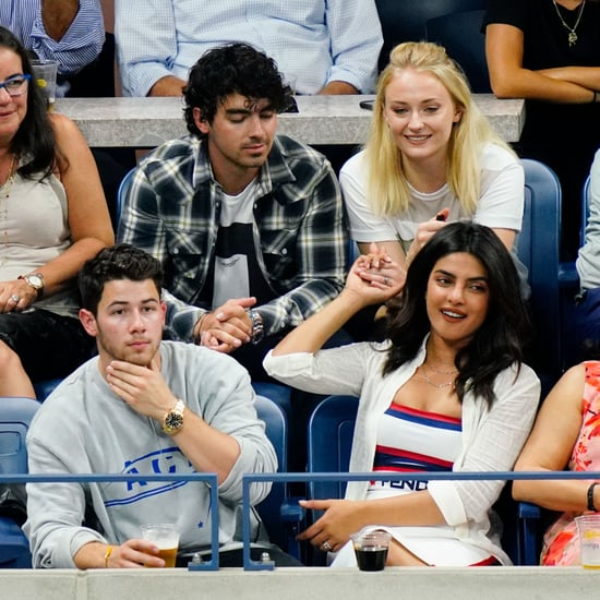 Nick Jonas and Priyanka Chopra at the US Open September 2018