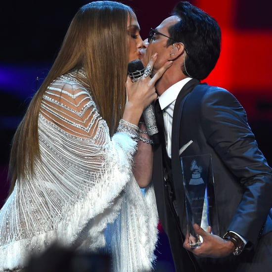 Jennifer Lopez Kissing Marc Anthony at Latin Grammys 2016