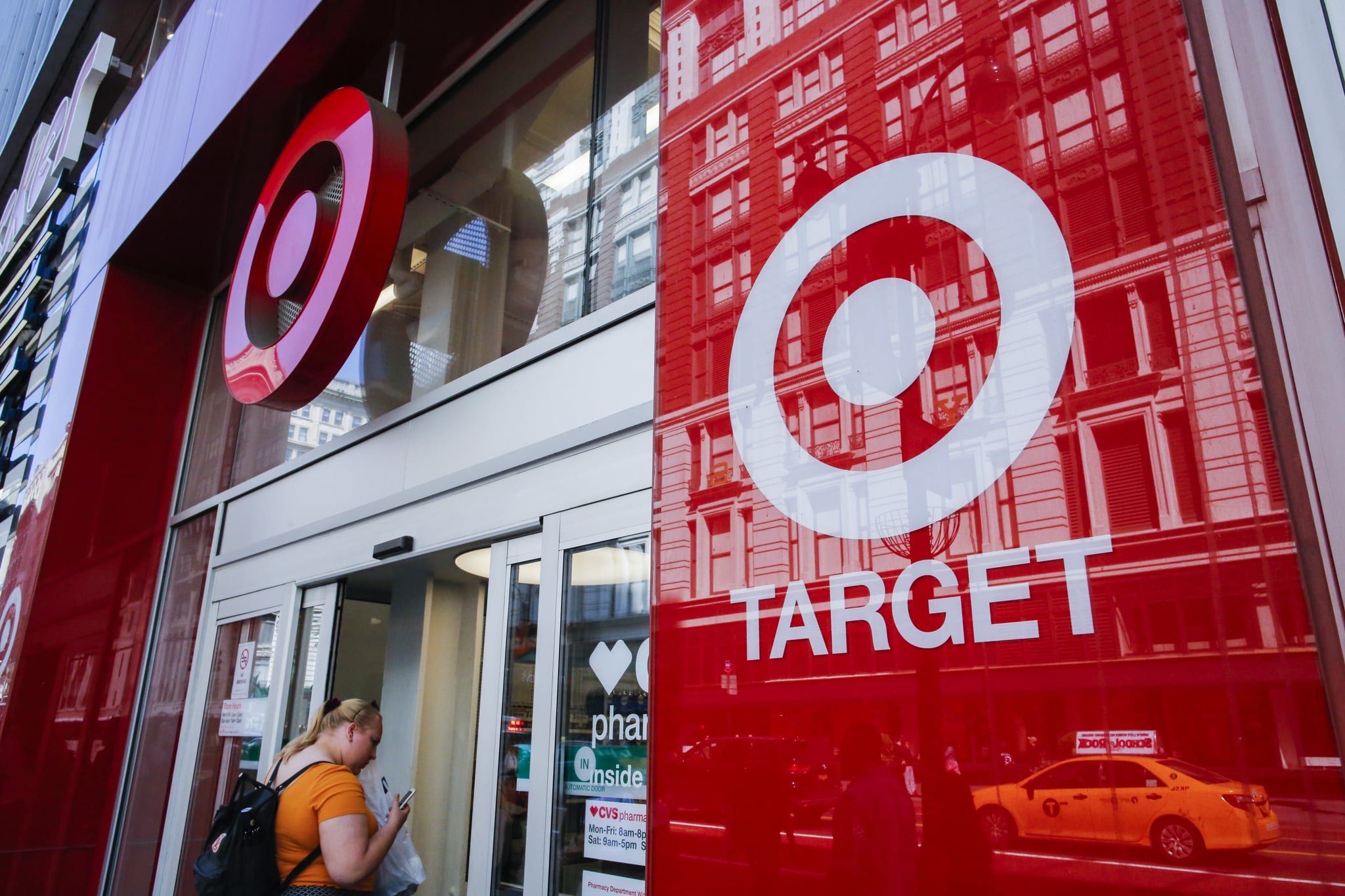 NEW YORK, NY - MAY 21:  A woman enters Target branch store at middle Manhattan on May 21, 2018 in New York, Target is expected on May 23 to report first-quarter earnings per share of $1.38, up from $1.21 in the same quarter a year ago. Target Corporation is the second-largest discount store retailer in the United States.(Photo by Eduardo Munoz Alvarez/VIEWpress/Corbis via Getty Images)