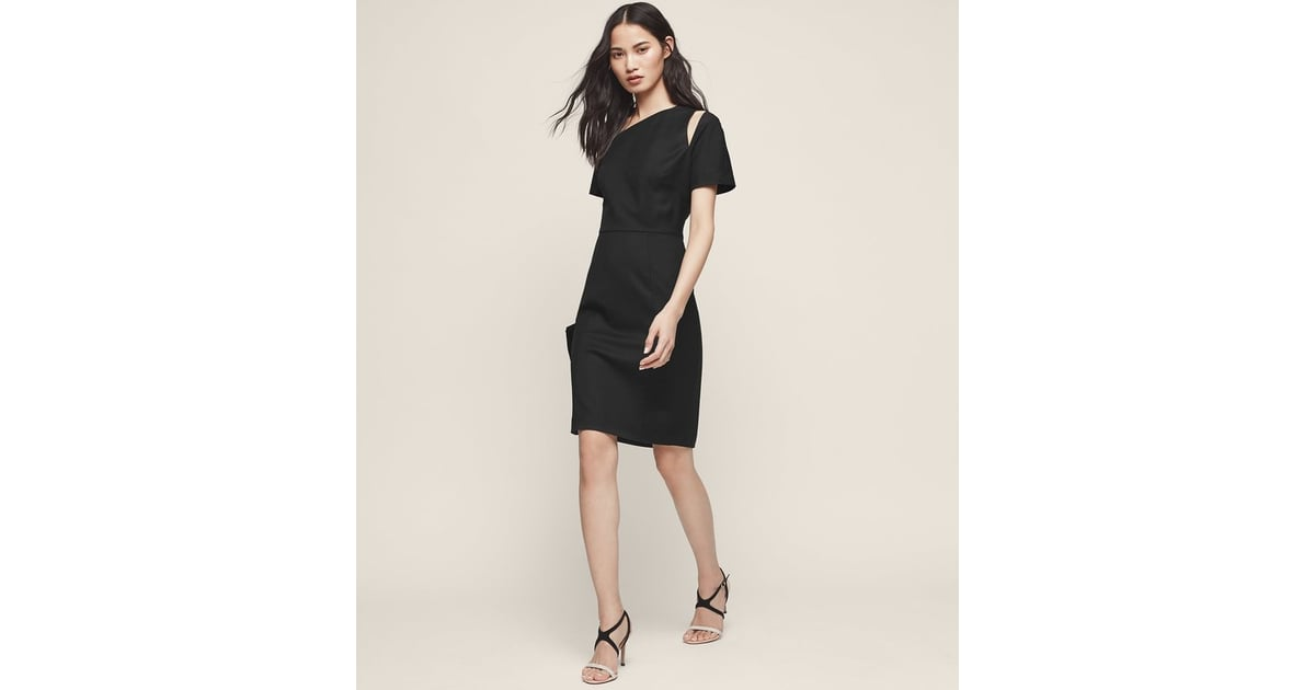 Reiss New Collection Huxley Dress Angelina Jolie Black Off The