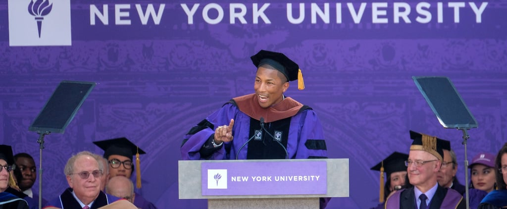Pharrell Williams Extols the Power of Women in Fiery NYU Commencement Speech