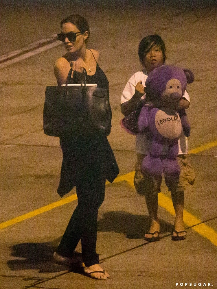 Angelina jolie arrives in hawaii with maddox and pax popsugar