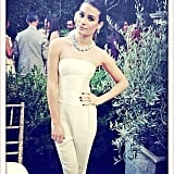 """Lea Michele had """"another Calvin Klein moment"""" at the CFDA/Vogue Fashion Fund Event in LA. Source: Instagram user msleamichele"""