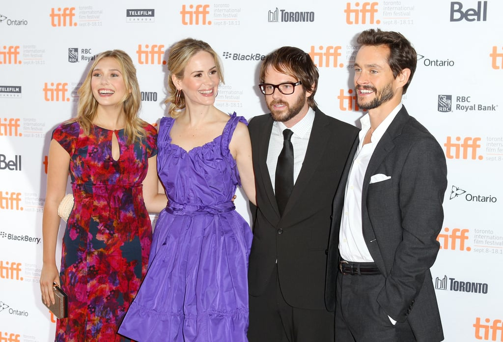 Elizabeth Olsen, Sarah Paulson, director Sean Durkin and Hugh Dancy made a spirited arrival to the 2011 premiere of their dark drama Martha Marcy May Marlene.