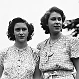 This stunning photo of the two sisters was taken in 1946.