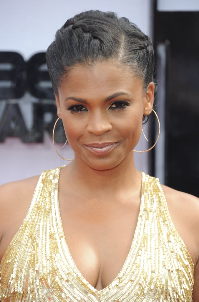 Nia Long put all the attention on her lashes with extralong falsies on the top and bottom. Her neutral lip hue allowed her eye makeup to truly stand out on the BET Awards red carpet.