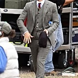 Tobey Maguire on the set of The Great Gatsby in Sydney.