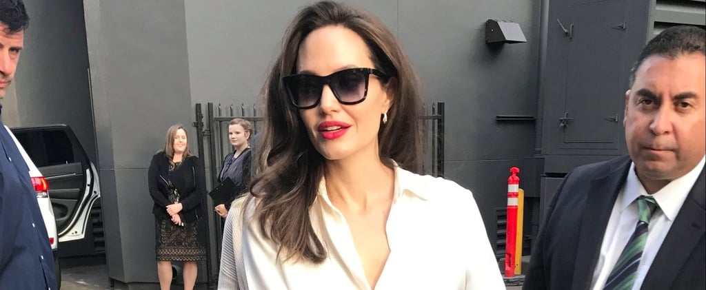 Angelina Jolie Loves a Nude Shoe, But This Pair Is Perfect For Fall