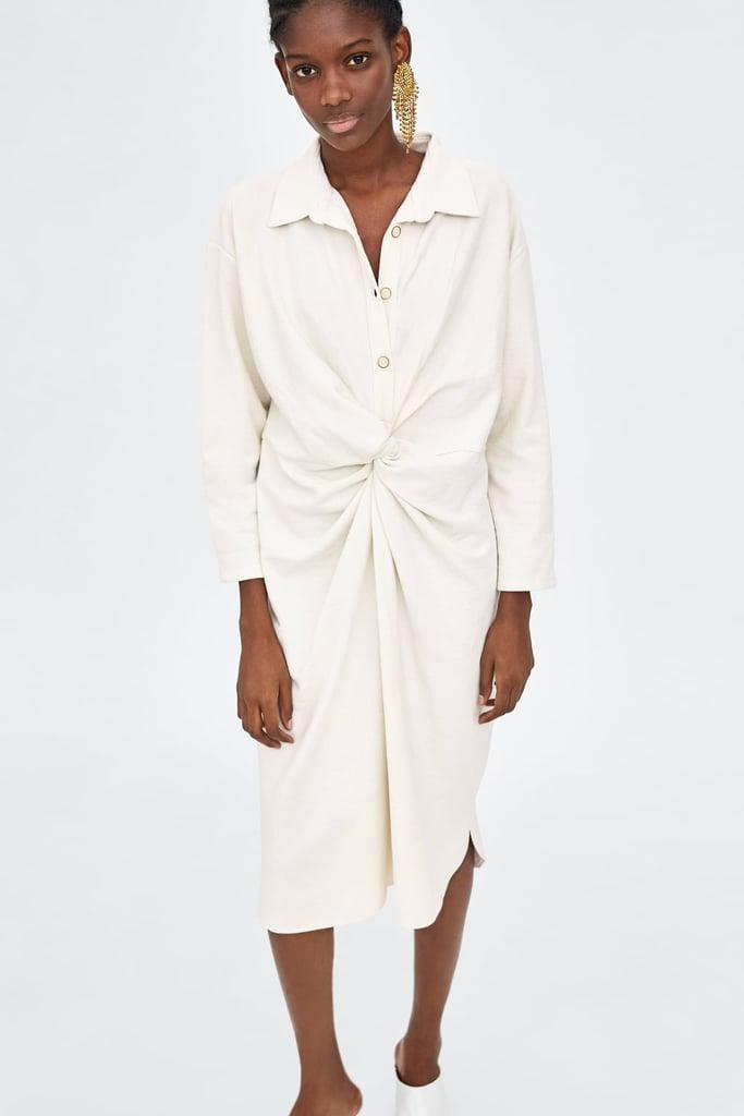 4773213a19 Zara Knotted Shirt Dress   DIY Halloween Costumes Using a White ...