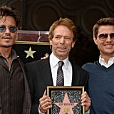 Johnny Depp and Tom Cruise posed with Jerry Bruckheimer as he accepted his star on the Hollywood Walk of Fame.