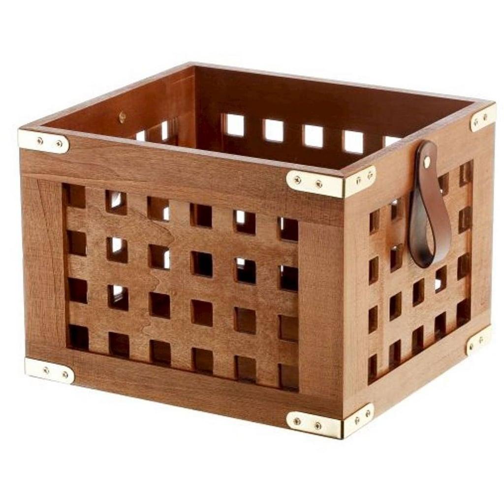 Lattice Wood Storage Crate