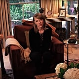 Taylor's family room was so cozy and inviting.