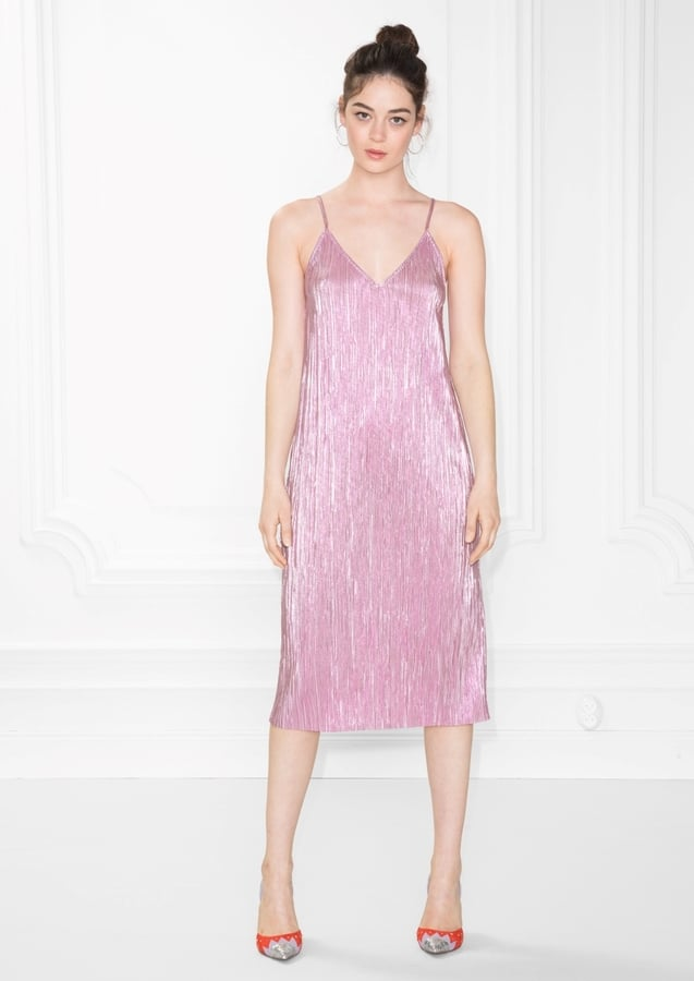 And Other Stories Metallic Sheen Dress