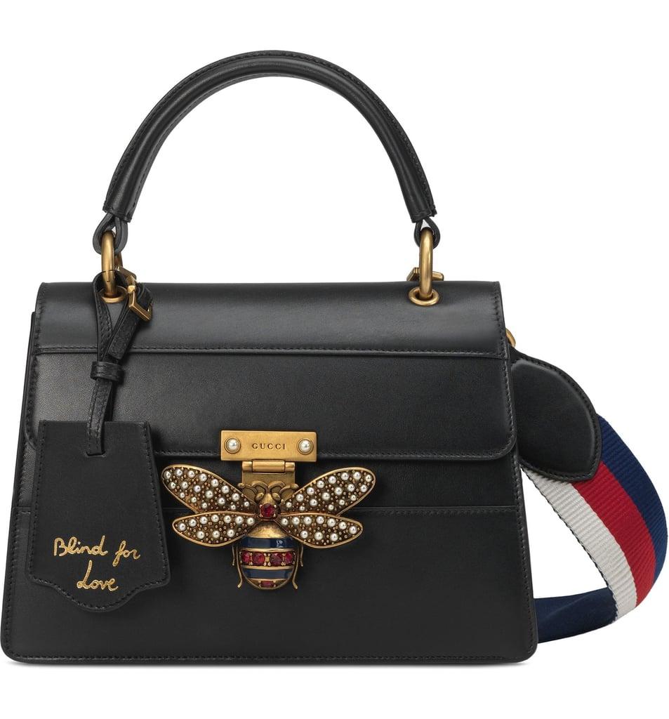 Gucci Queen Margaret Top Handle Leather Satchel