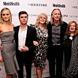 Taylor Schilling, Zac Efron, and Blythe Danner posed together with director Scott Hicks and producer Kerry Heysen at the Cinema Society and Men's Health screening of The Lucky One in NYC.