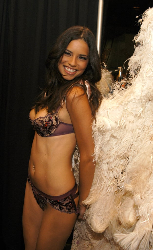 Adriana Lima showed skin for the Victoria's Secret Fashion Show in NYC in November 2003.