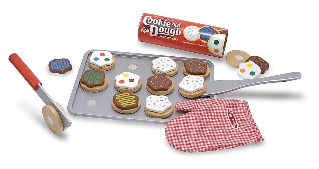 Melissa & Doug Slice-and-Bake Wooden Cookie Play Food Set