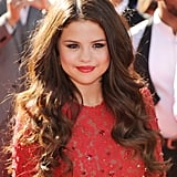 Red was Selena Gomez's color of choice last night. She wore a crimson dress with matching lipstick and nails.