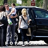 Sarah Michelle Gellar and her family went to the LA Zoo.