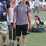 Joe Jonas stepped out in 2014.