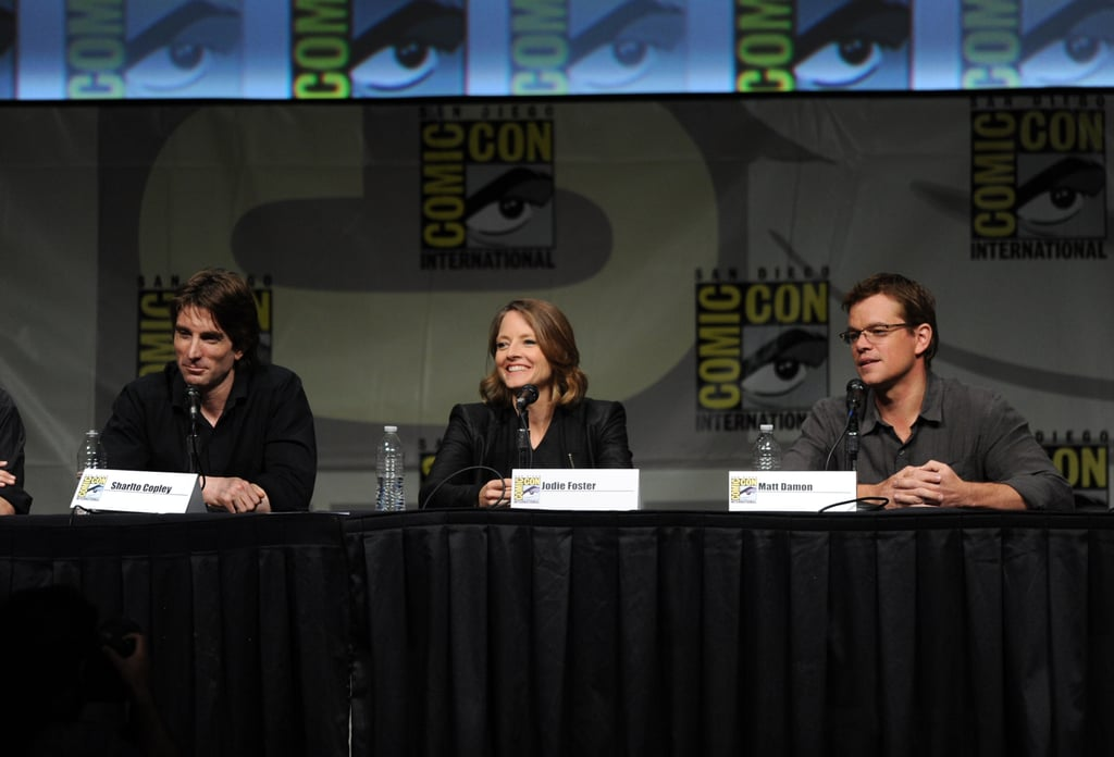 Sharlto Copley, Jodie Foster and Matt Damon talked Elysium.