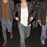Josh Hutcherson wore sunglasses at night.